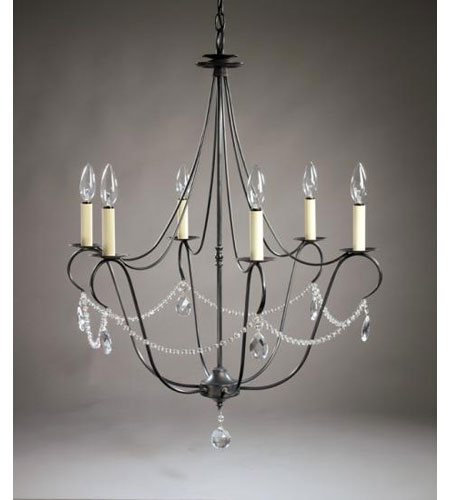 Northeast Lantern 959-DB-LT6-CRY Signature 6 Light 25 inch Dark Brass Chandelier Ceiling Light in With Crystals photo